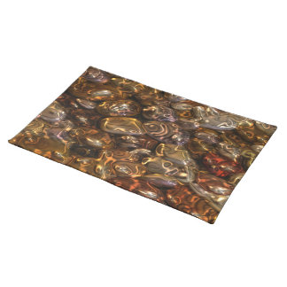 Pattern ART - Golden River Stones Cloth Placemat