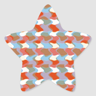PATTERN artistic:  Red Blue Yellow: Add Greeting Star Sticker