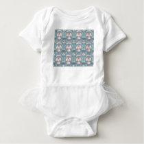 pattern baby bodysuit