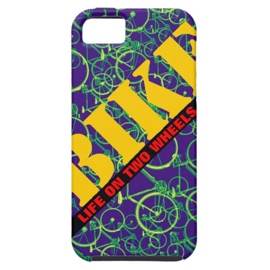 pattern bike life on two wheels iPhone SE/5/5s case