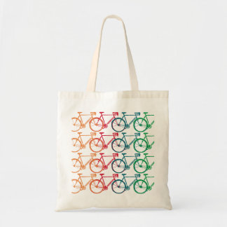 pattern Bikes in colors Budget Tote Bag