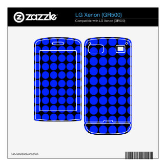 Pattern Black Background with Blue Circles Skin For LG Xenon