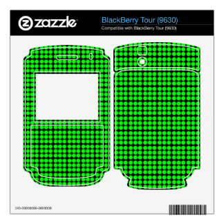 Pattern Black Background with Green Circles BlackBerry Tour Skin