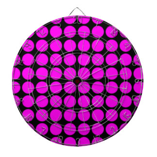 Pattern: Black Background with Pink Circles Dart Board
