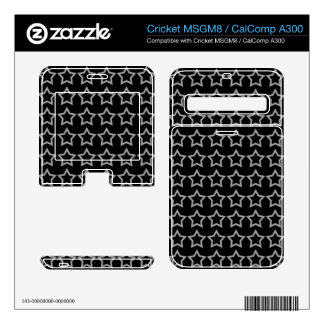 Pattern Black Background with White Stars Cricket MSGM8 Decal