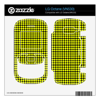 Pattern Black Background with Yellow Circles Decal For LG Octane