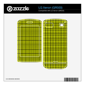 Pattern Black Background with Yellow Circles LG Xenon Decals