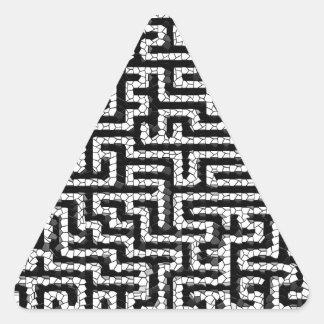 Pattern - Black Triangle Sticker