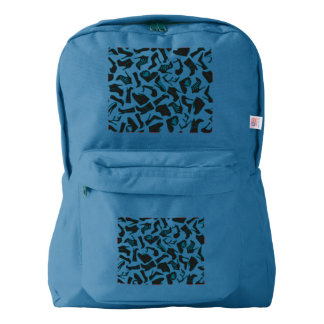 Pattern black Women's shoes American Apparel™ Backpack