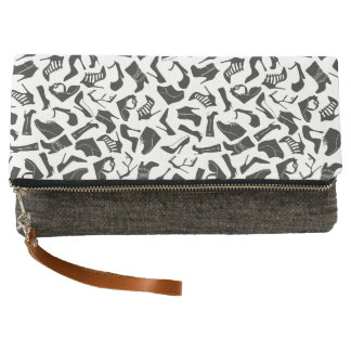 Pattern black Women's shoes Clutch