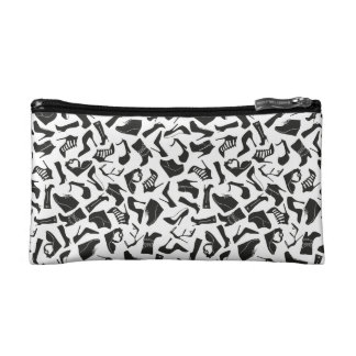 Pattern black Women's shoes Cosmetic Bag