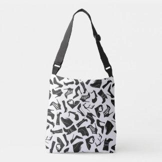 Pattern black Women's shoes Crossbody Bag