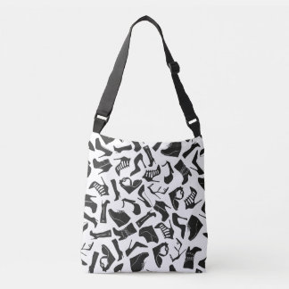 Pattern black Women's shoes Crossbody Bag
