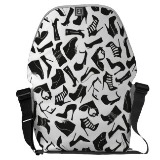 Pattern black Women's shoes Messenger Bag