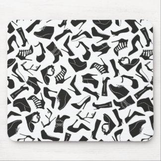 Pattern black Women's shoes Mouse Pad