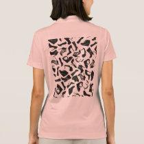 Pattern black Women's shoes Polo Shirt