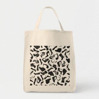 Pattern black Women's shoes Tote Bag