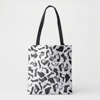 Pattern black Women's shoes Tote Bag