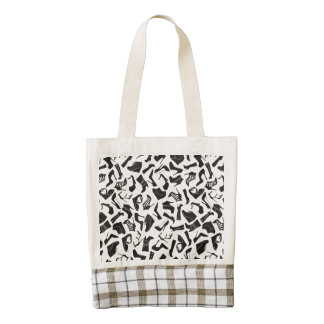 Pattern black Women's shoes Zazzle HEART Tote Bag