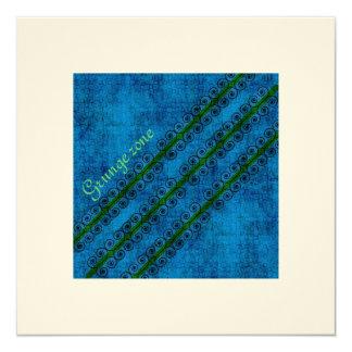 """Pattern Blue 1 Invitación 5.25"""" X 5.25"""""""