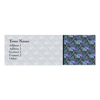 Pattern, Blue and Lavender Curving Textures Business Cards