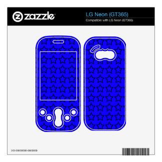 Pattern: Blue Background with Black Stars LG Neon Decals