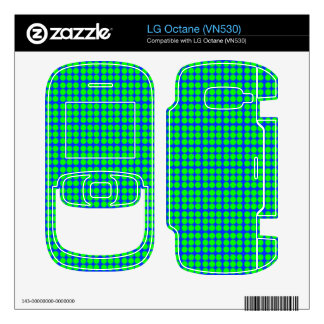 Pattern Blue Background with Green Circles LG Octane Decal