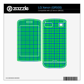 Pattern Blue Background with Green Circles LG Xenon Decal