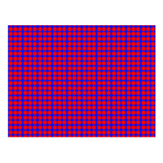 Pattern: Blue Background with Red Circles Postcard