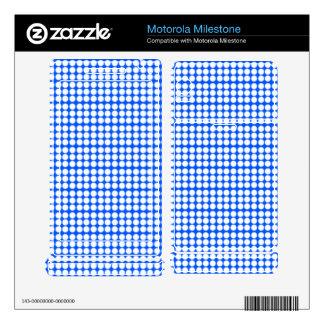 Pattern: Blue Background with White Circles Motorola Milestone Decals