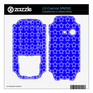 Pattern Blue Background with White Stars Decals For LG Cosmos