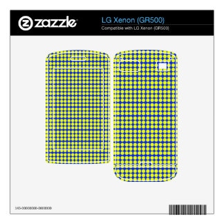 Pattern Blue Background with Yellow Circles Decals For The LG Xenon