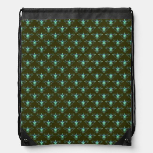 Pattern_Blue_Butterfly #05 Drawstring Bags