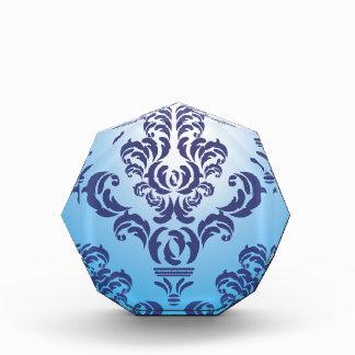 Pattern blue floral award
