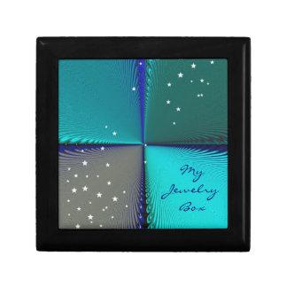 Pattern Blue Infinity Keepsake Box
