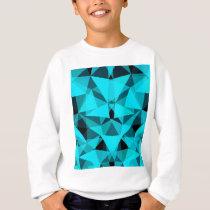 pattern blue sweatshirt