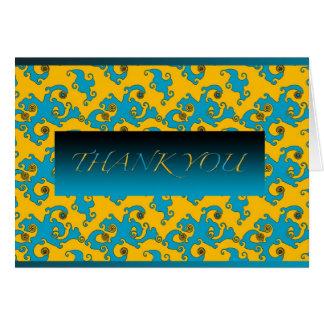 PATTERN BLUE TWIRL CARD
