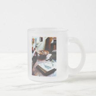 Pattern Book Frosted Glass Coffee Mug