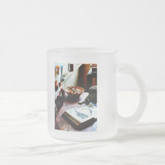 Pattern Book 10 Oz Frosted Glass Coffee Mug