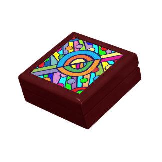 PATTERN BOX RED KEEPSAKE BOX