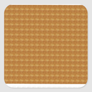 Pattern- Brown & White Square Sticker