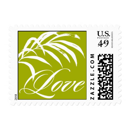 Pattern - Cabana Love - Green Postage Stamps