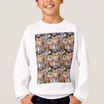 Pattern Cats Sweatshirt