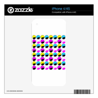 PATTERN CIRCLES ON WHITE DECAL FOR iPhone 4