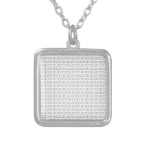 pattern classic 12.png silver plated necklace