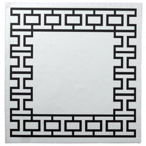 pattern cloth napkin