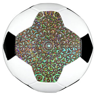 Pattern collage abstract art soccer ball