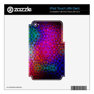 Pattern Color Colorful Dark iPod Touch 4G Decals