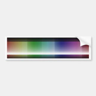 Pattern Color gradient Bumper Sticker
