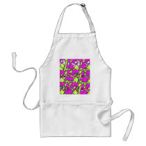 pattern-color pink. adult apron